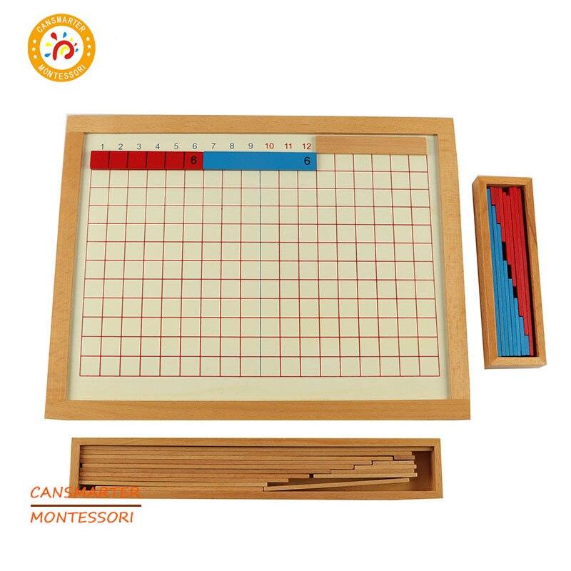 Jouets mathématiques pour bébé bâtons de comptage en bois conseil d'addition jeux éducatifs pour enfants casse-tête Montessori jouets d'apprentissage MA045