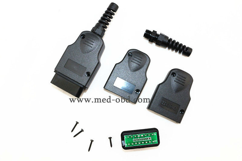 16Pin OBD2 Разъем J1962m Plug PCB с Приложением и Защиты От Натяжения