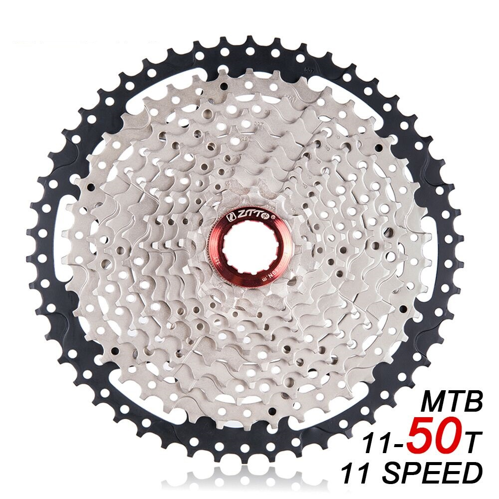 все цены на ZTTO MTB 11 Speed Cassette 11S 11-50T L Mountain Bike Freewheel Wide Ratio for shimano m7000 m8000 m9000 SUNRACE Bicycle Parts онлайн