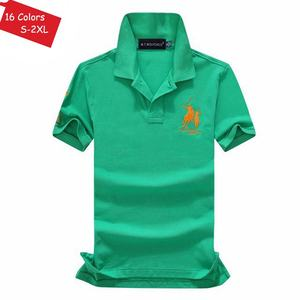 Image 3 - Good Quality 2020 New Summer Brand Mens Short Sleeve Polos Shirts Casual 100% Cotton Lapel Clothes Fashion Male Slim Tops S XXL