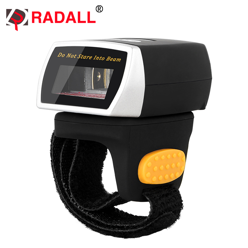 Mini Wearable Bluetooth 1D Ring  Code Barcode Scanner Finger for Iphone IOS Android Windows - RD-R1 caribe pl 40l ip65 rugged industrial mobile bluetooth pda 1d barcode scanner android 5 1