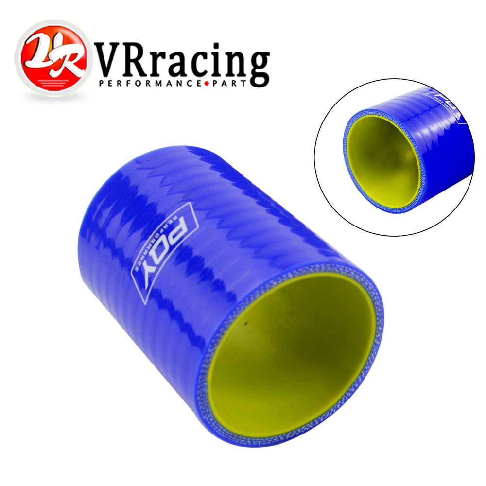VR - Blue&yellow 2 51mm Straight Silicone Intercooler Turbo Intake Pipe Coupler Hose VR-SH0020-QY vr racing blue silicone radiator coolant hose kit for vw golf gti 2 0t fsi turbo mk5 2003 2009 vr lx1305