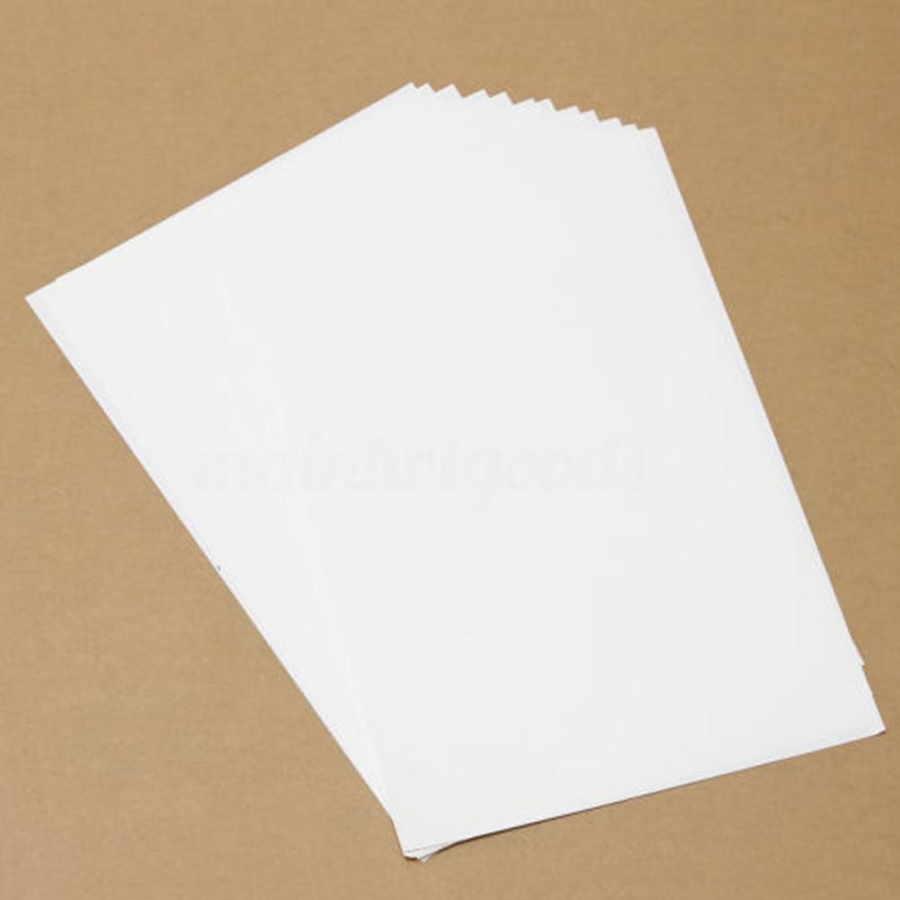 10pcs Heat Iron A4 Printworks For Inkjet Printers Light Fabric Transfer T-Shirt Paper Light Color - Цвет: White