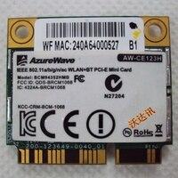 SSEA for BroadCom AW CE123H BCM4352 BCM94352HMB Half Mini PCI E 802.11ac Wifi BT 4.0 2.4G/5.0GHz original Wireless card 867Mbps