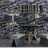 Beibehang Papel De Parede 3D Embossed Chinese Brick Wallpaper Vintage Stone Wall Paper Roll For Living