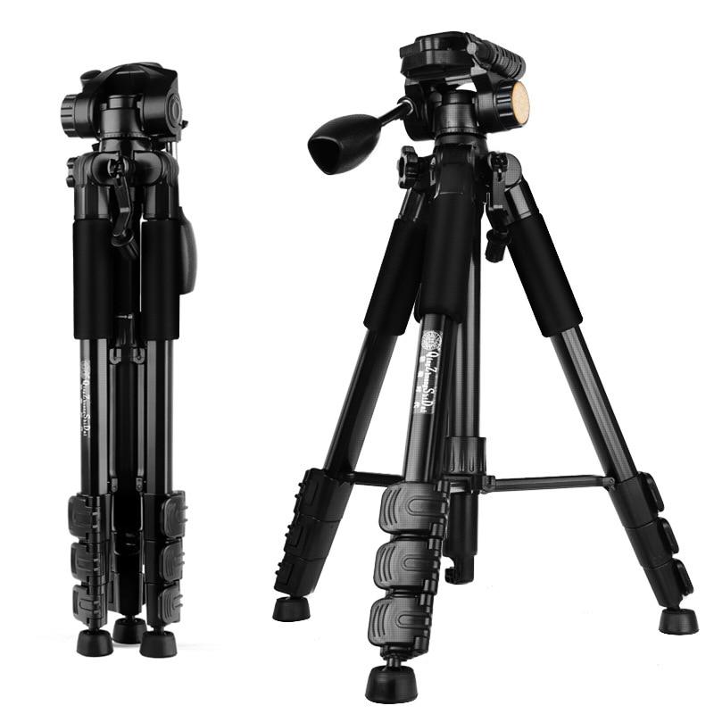 Hot Professional Portable QZSD Q111 Aluminum alloy Camera Tripod with Q08 Rocker Arm Ball Head for Canon Nikon Sony SLR Camera вертикуттер al ko comfort 38 e combi care