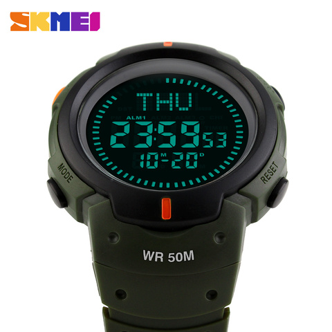 SKMEI Men Outdoor Climbing Hiking Sport Watch Digital LED Electronic Wrist Watches Man Compass Chronograph Men Sports Watches Karachi