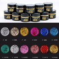 12 Colors 6G CHE Glitter Shiny Speckled Stars Gel Soak Off LED UV Nail Art Polish Manicure Gel DIY Salon Tips 25-36#