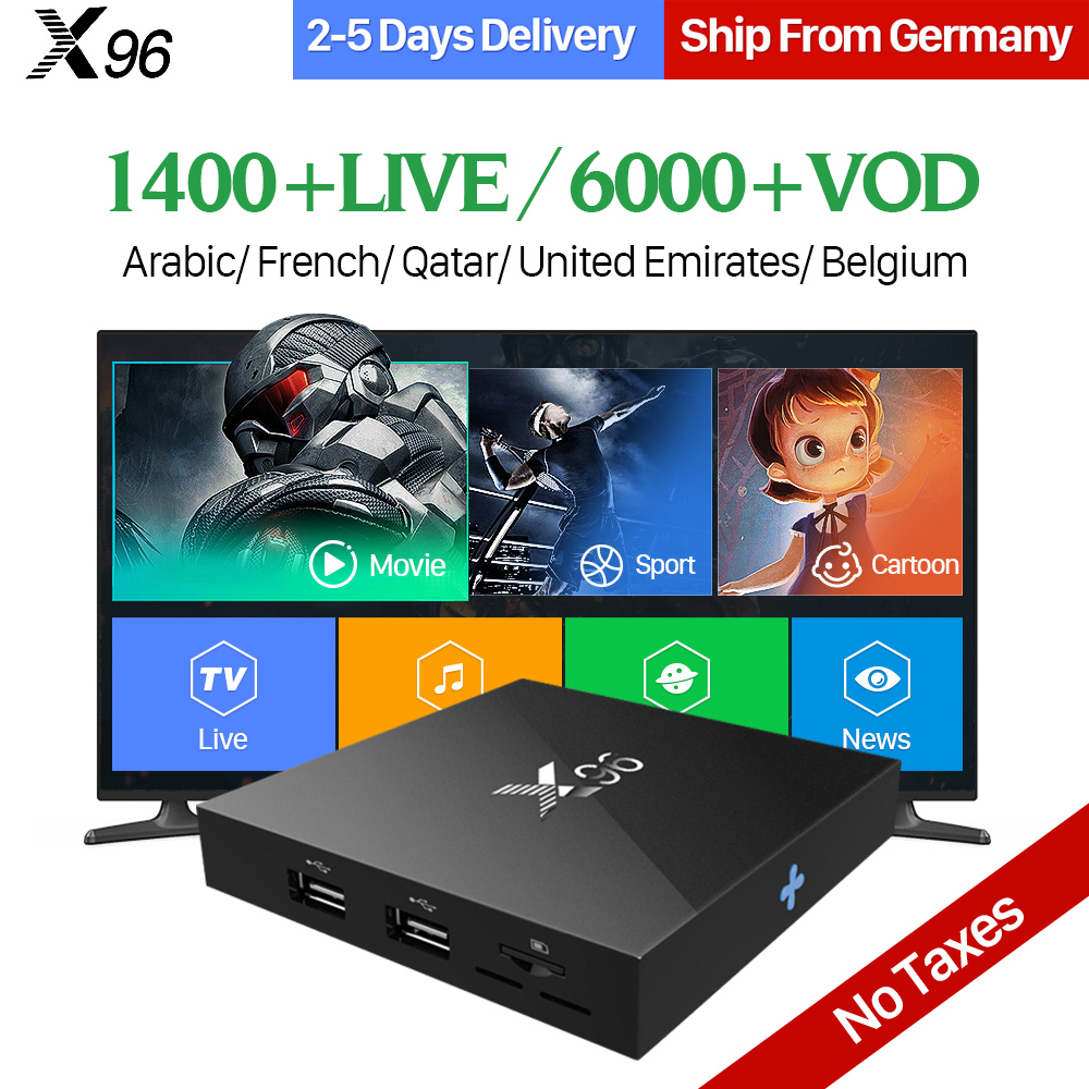 Arabic France IPTV Box X96 TV Box Android 6.0 2GB 16GB S905X 1 Year QHDTV Code IPTV Subscription Belgium French Channels IP TV iptv french arabic subscription box android 7 1 t95z plus set top box with qhdtv code 1 year iptv france arabic belgium ip tv