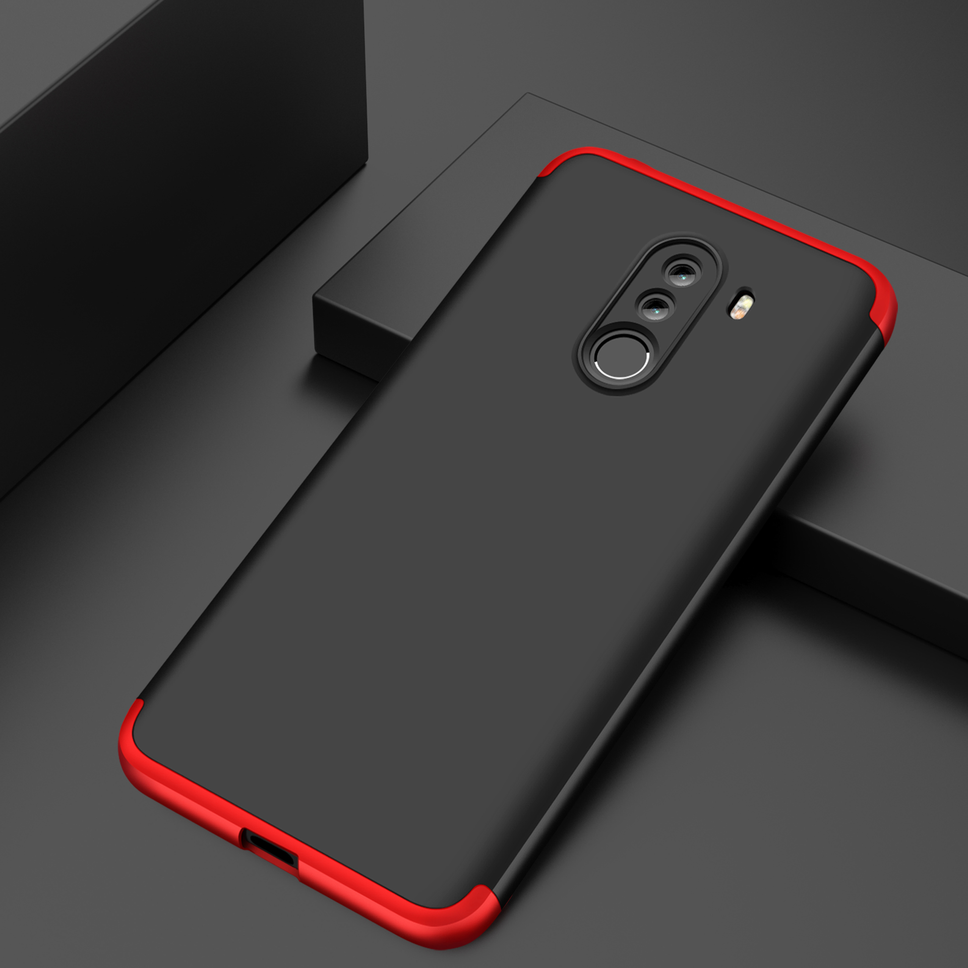 For Xiaomi Pocophone F1 Luxury 3-IN-1 Case 360 Degree Full Shockproof Frosted Shield Hard Back Cover Case For Xiaomi PocophoneF1 (13)