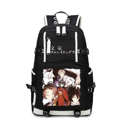 Anime Bungo Stray Dogs Backpack oxford Game Schoolbags Fashion Unisex Travel Bag цена 2017