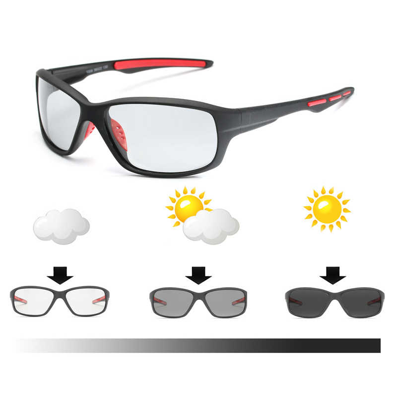 cdd380e8946 Sport Color-changing Lenses Photochromic Polarized Glasses Bicycle MTB  Riding Fishing Cycling Sunglasses Outdoor Equipment