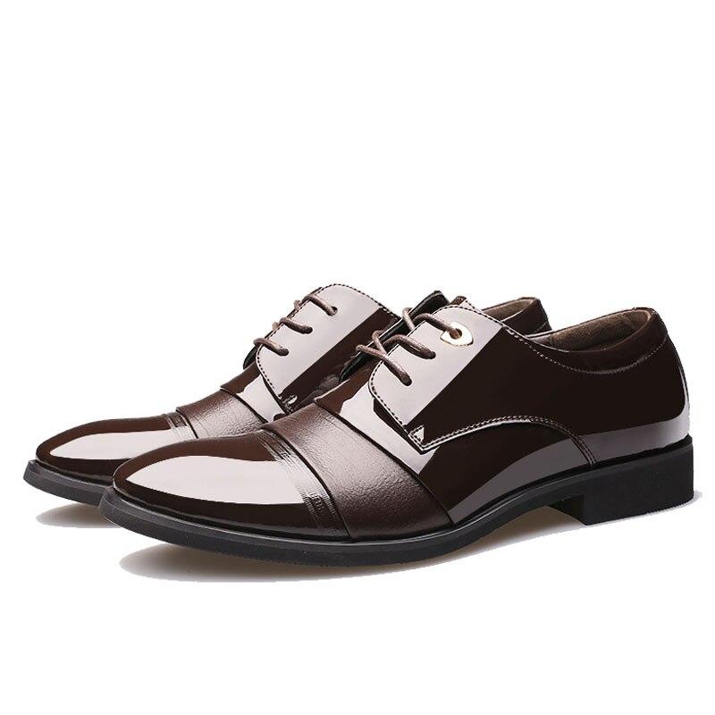 Cuir Black En up Pointu brown Robe Qualité Hommes Les Oxford De Chaude Haute Noir Bout Bas Dentelle Pour Chaussures D'affaires wOqUXxf0n
