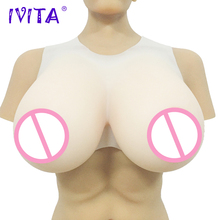 IVITA 5300g Realistic Silicone Breast Forms Fake Boobs For Crossdresser Lifelike Soft False Breasts Drag Queen Shemale