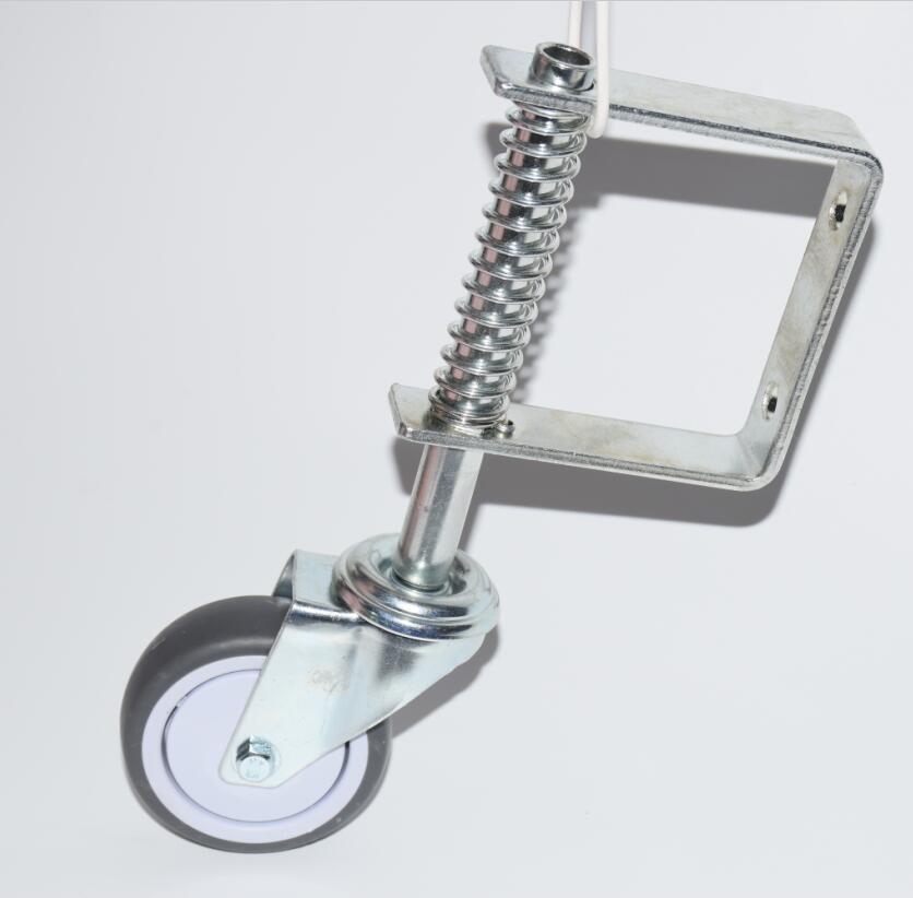 "Spring Loaded Gate Jockey Wheel Swivel Castor 3"" Diameter Up To 50kg Gate Support Wheel"