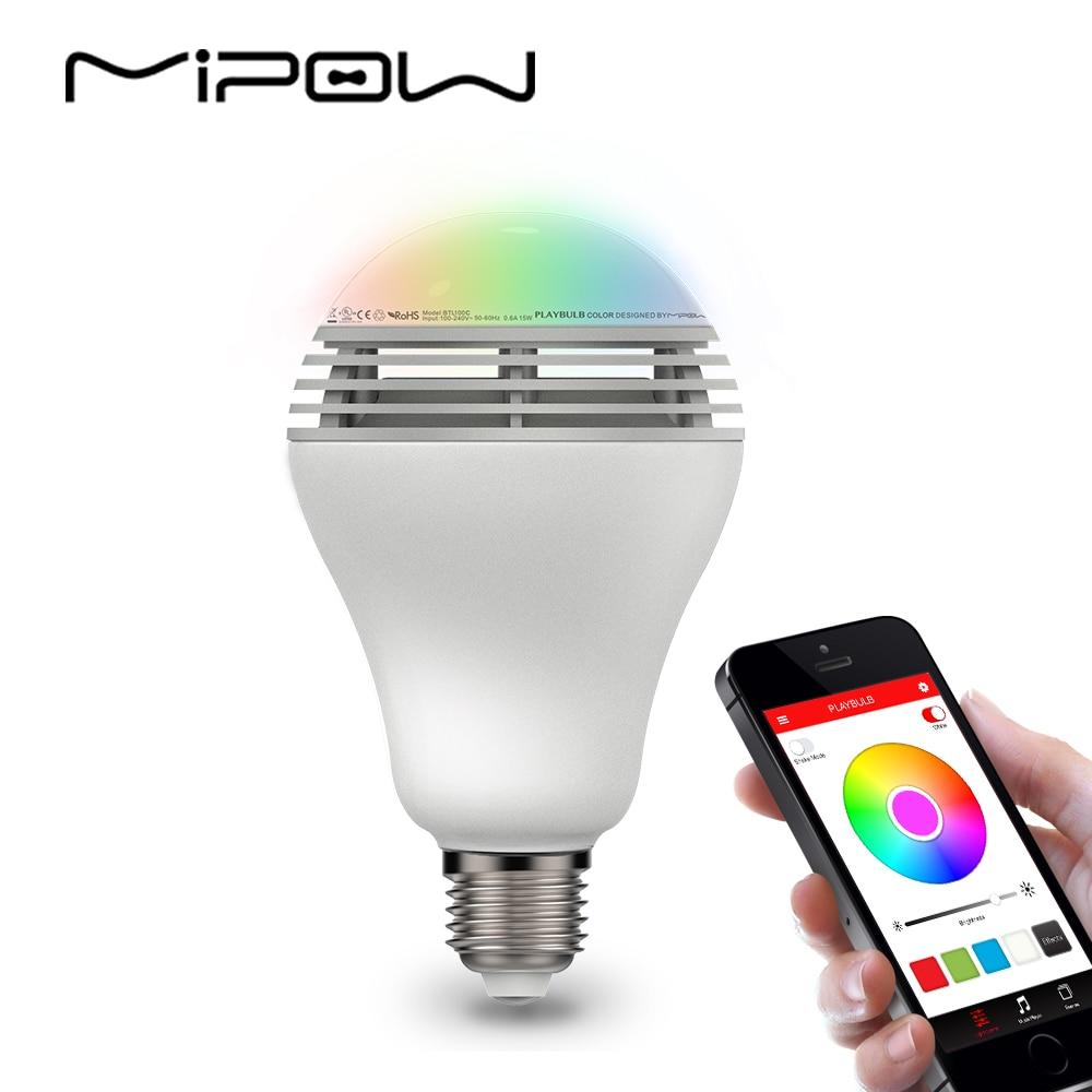 mipow Playbulb Bluetooth Ηχείο Smart Dimmable LED Λάμπες χρώματος Αλλαγή φωτισμού Ρομαντικό πάρτι Φώτα Ημέρα του Αγίου Βαλεντίνου