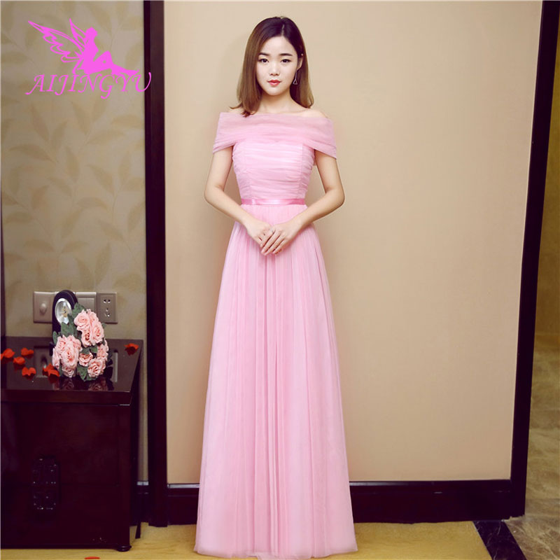 AIJINGYU 2018 hot plus size   bridesmaid     dresses   short wedding party   dress