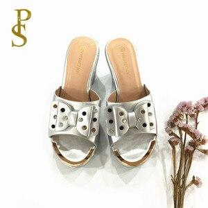 Image 3 - Yüksek topuklu bayan terlik sıcak satış yaz ayakkabı