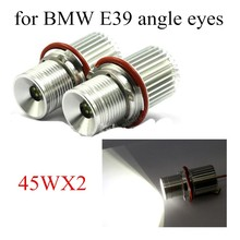 free shipping Car Styling 1 pair 2X45W Angle Eye Headlight LED marker Rings for BMW E39 E53 E60 E61 E63 E64 E65 E66 E87