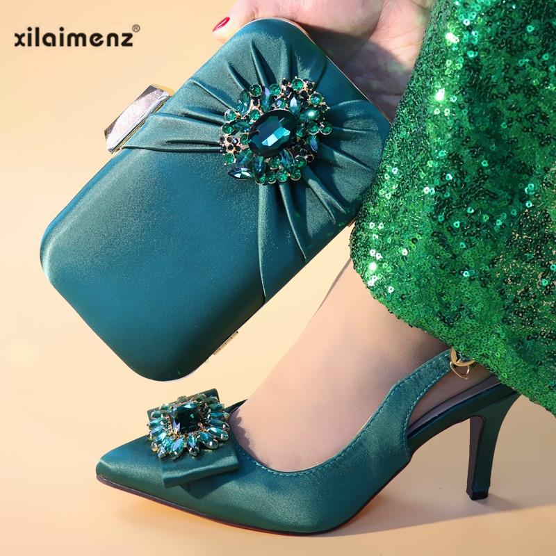 Fiesta Real Alta Bolsa wind Señora Zapato Black De Bueno green Moda 2019 Mediano Encuentro Bolso Oficina blue Zapatos silver Calidad Para Y FxZRaOq