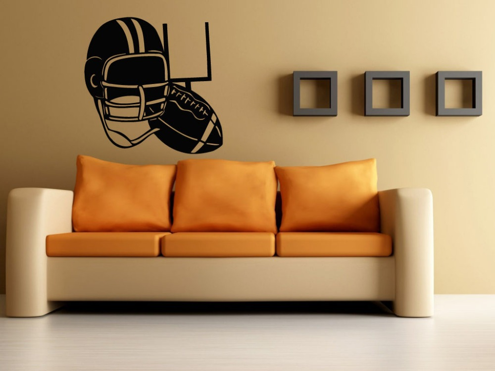 Football Sticker Sports Rugby Decal Helmets Posters Vinyl Wall Decals Parede Decor Mural Football Sticker