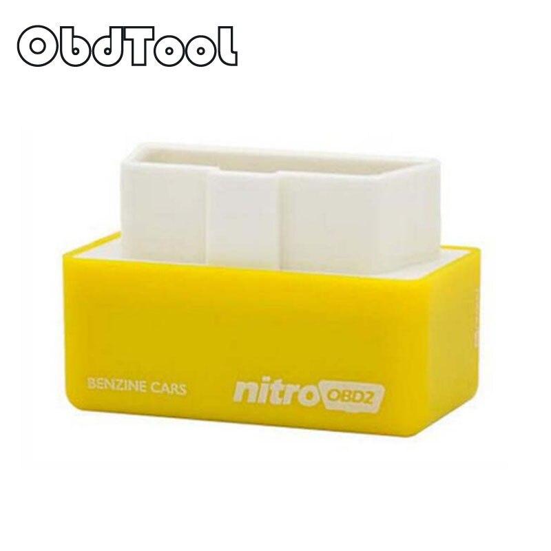 ObdTool Jaune NitroOBD2 Puce Tuning Box Benzine Voitures À Essence Puissance et Couple Nitro OBD2 Plug et Dispositif D'entraînement LR15