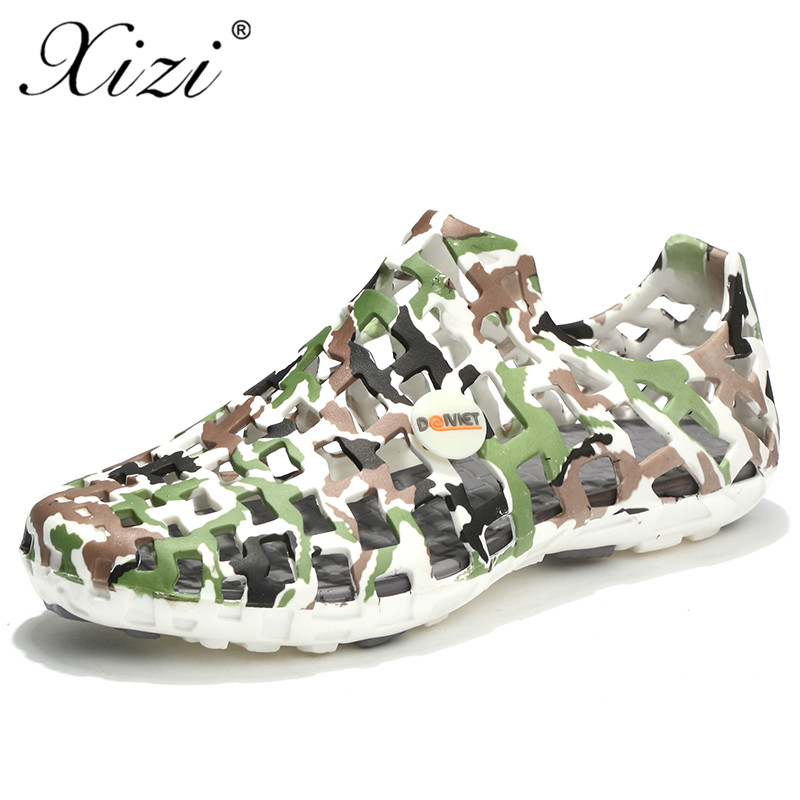 a9b5373a91e Xizi Fashion Summer Men Slippers Breathable Beach Sandals Male Jelly Shoes  Hollow Out of The Drag