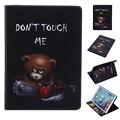Для Apple iPad Pro 9.7 Люкс Флип PU Кожаный Чехол Злой Медведь Живопись Tablet Чехол С Милой Кошелек Владельца Карты