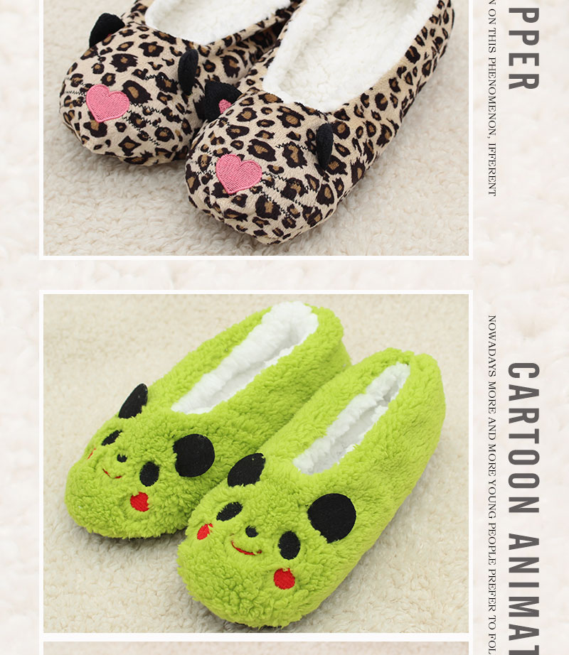 cartoon cute 18 Indoor Home Slippers Warm Soft Plush slippers Comfortable Indoor Fur Slippers Striped Cute Women Shoes 7