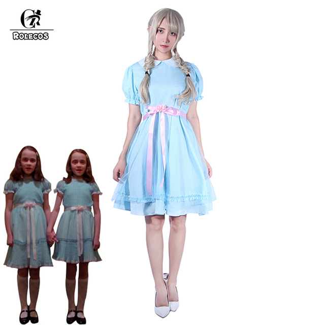 Rolecos The Shining Twins Cosplay Costume Dress For Women Sweet Blue