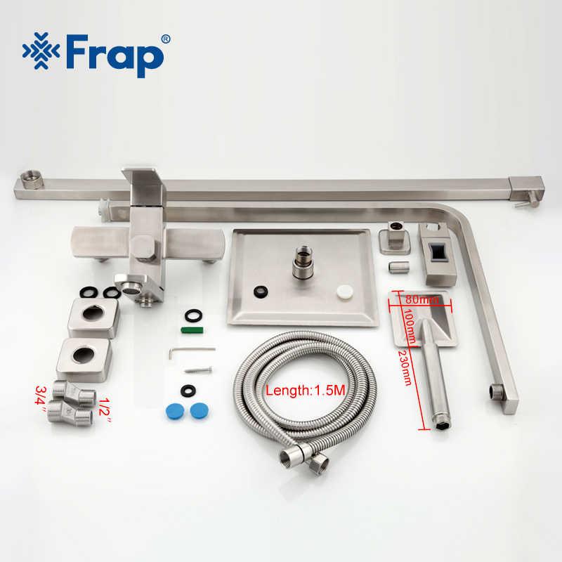 Frap baterie prysznicowe najwyższej jakości współczesny prysznic kran do łazienki baterie wannowe zestaw głowicy natryskowej mikser Torneira