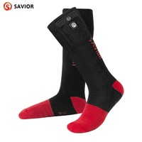 Savior warm heating socks outdoor sports heating socks winter warm knit cotton warm soft fast outdoor
