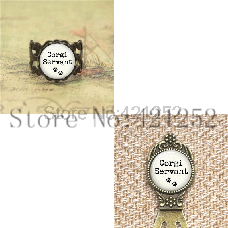 Your FAVORITE BREED Servant Dog Lover Dog Jewelry Glass Photo Cabochon Necklace keyring bookmark cufflink earring
