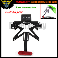 Motorcycle License Plate Bracket Holder Number Plate Hanger Tail Tidy For Kawasaki Z750 Z 750 All