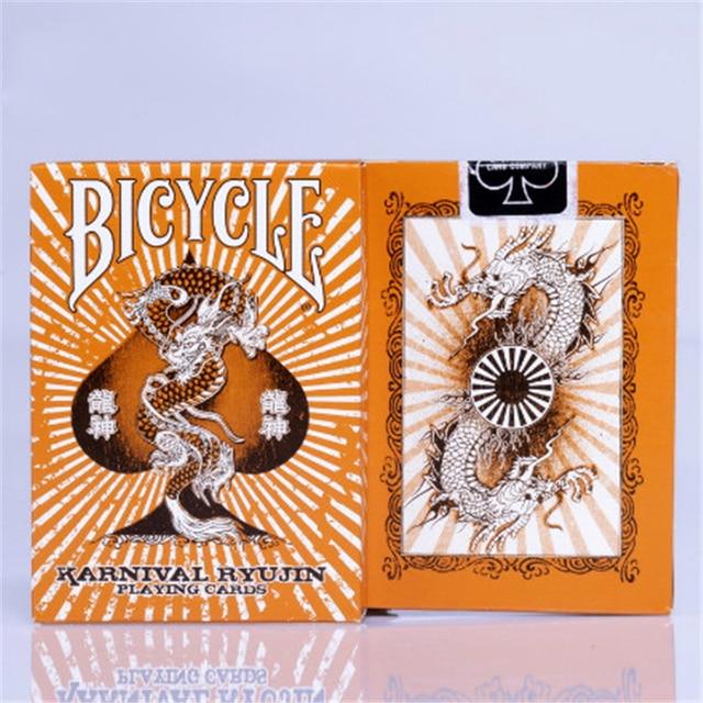 Dragon poker Solitaire BBM Bicycle single plate Karnival Ryujin Carnival Poker Magic Playing Cards Magic Deck Props 81292