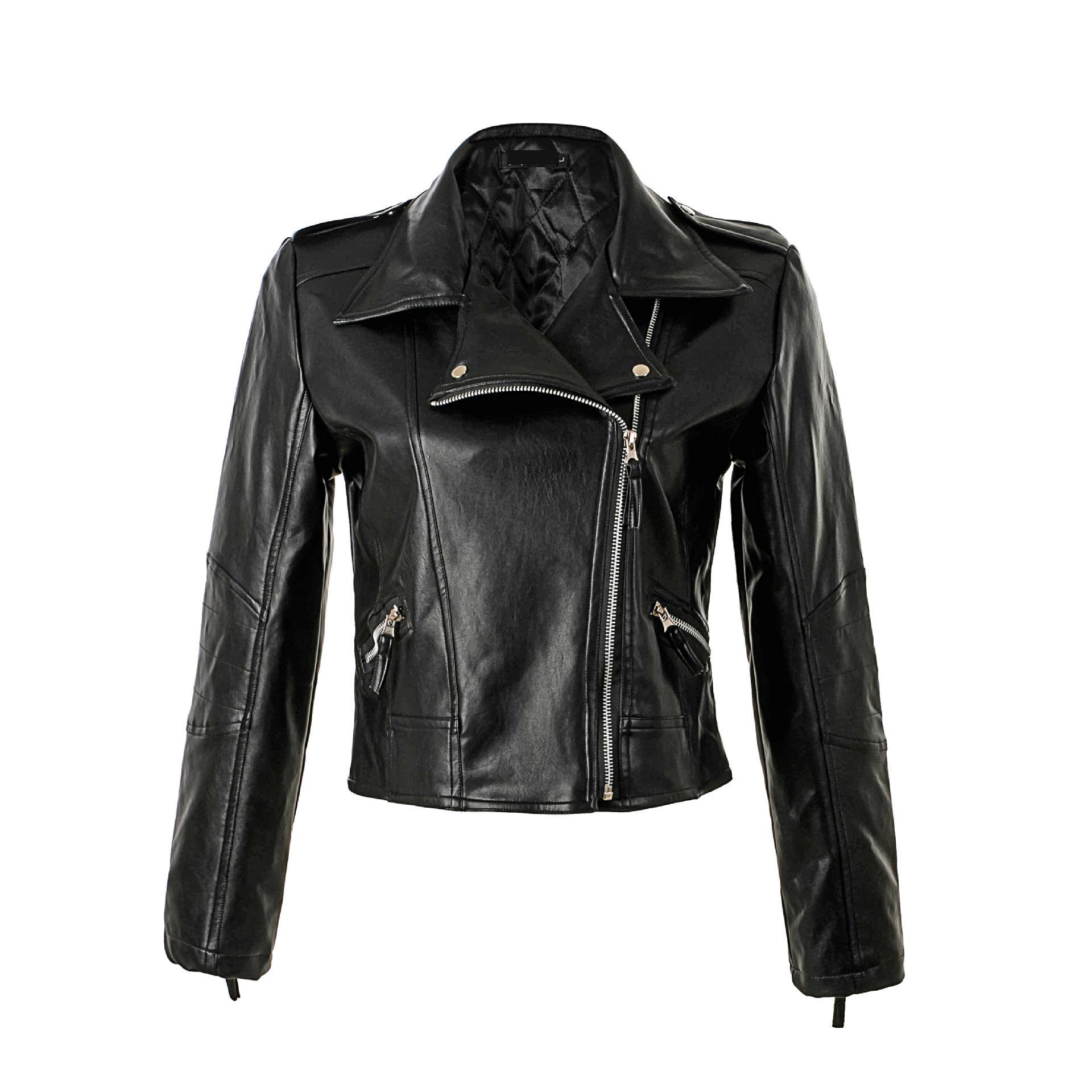 2018 New Fashion leather jacket women classic Short female leather ...