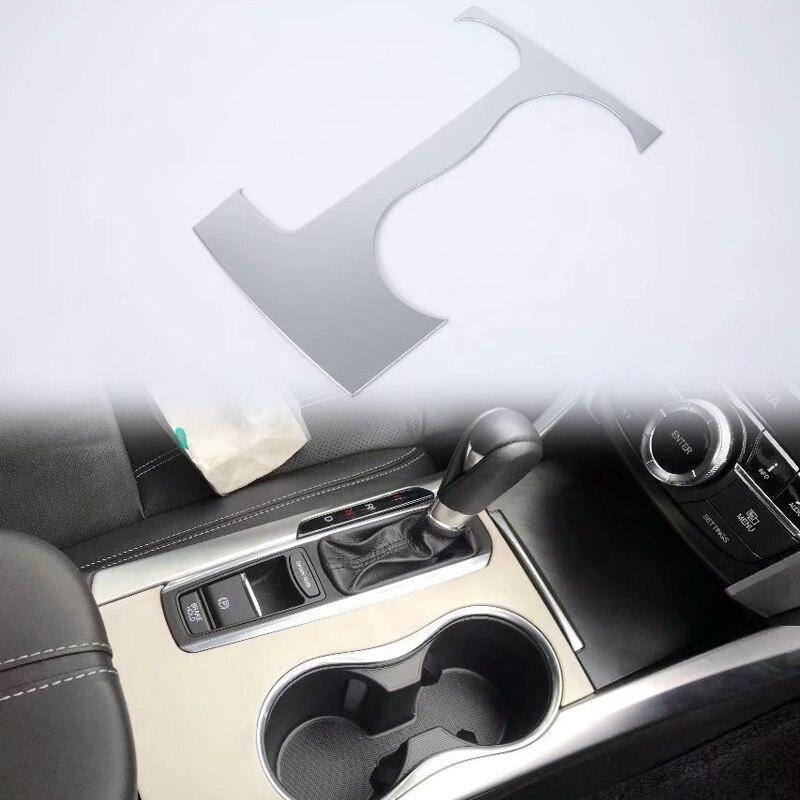 1PCS ABS Matte Interior Front Center Gear Panel Cover Trim