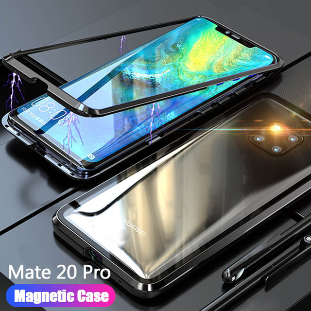 Funda para teléfono Huawei Mate 20 Pro Lite X Mate20 de cristal magnético para Huawei mate20pro 20 lite 20X cubierta de accesorios de la cáscara