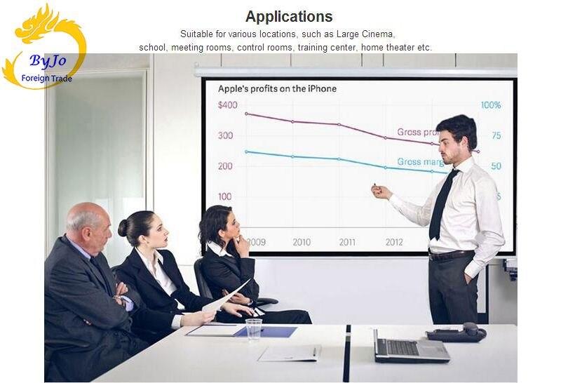 Электрические шторы 60 72 84 100 дюймов 16:9 или 4:3 моторизованный экран для всех LED LCD DLP лазерный проектор электрический проектор экран - 3