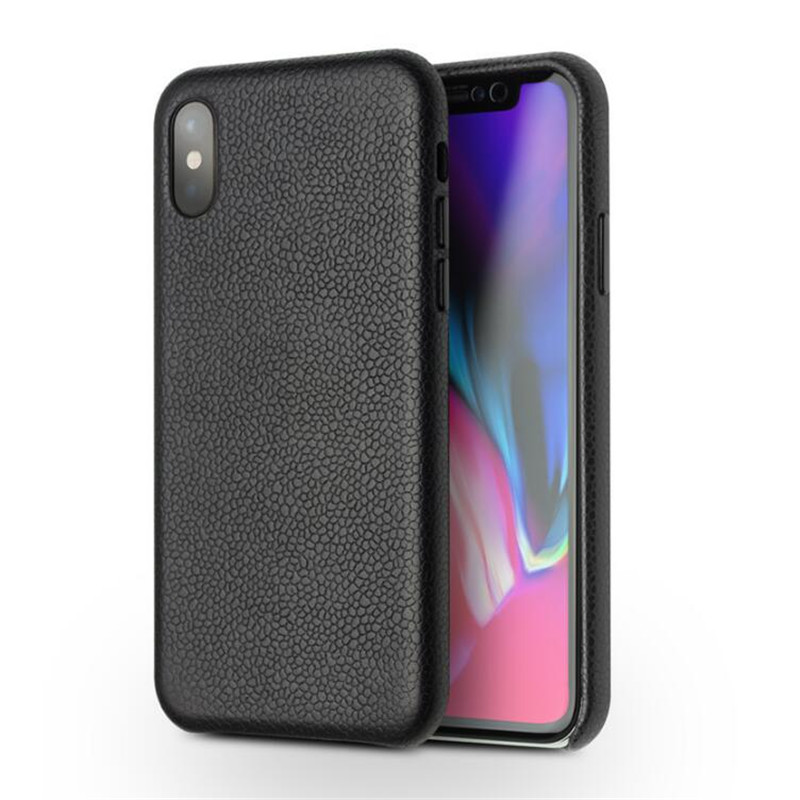 2018 luxury QIALINO Fashion Ultra Thin Back Case for iPhone X / 10 Luxury Genuine Leather Bag Women Phone Cover  for 5.8 inches|Half-wrapped Cases| |  - title=
