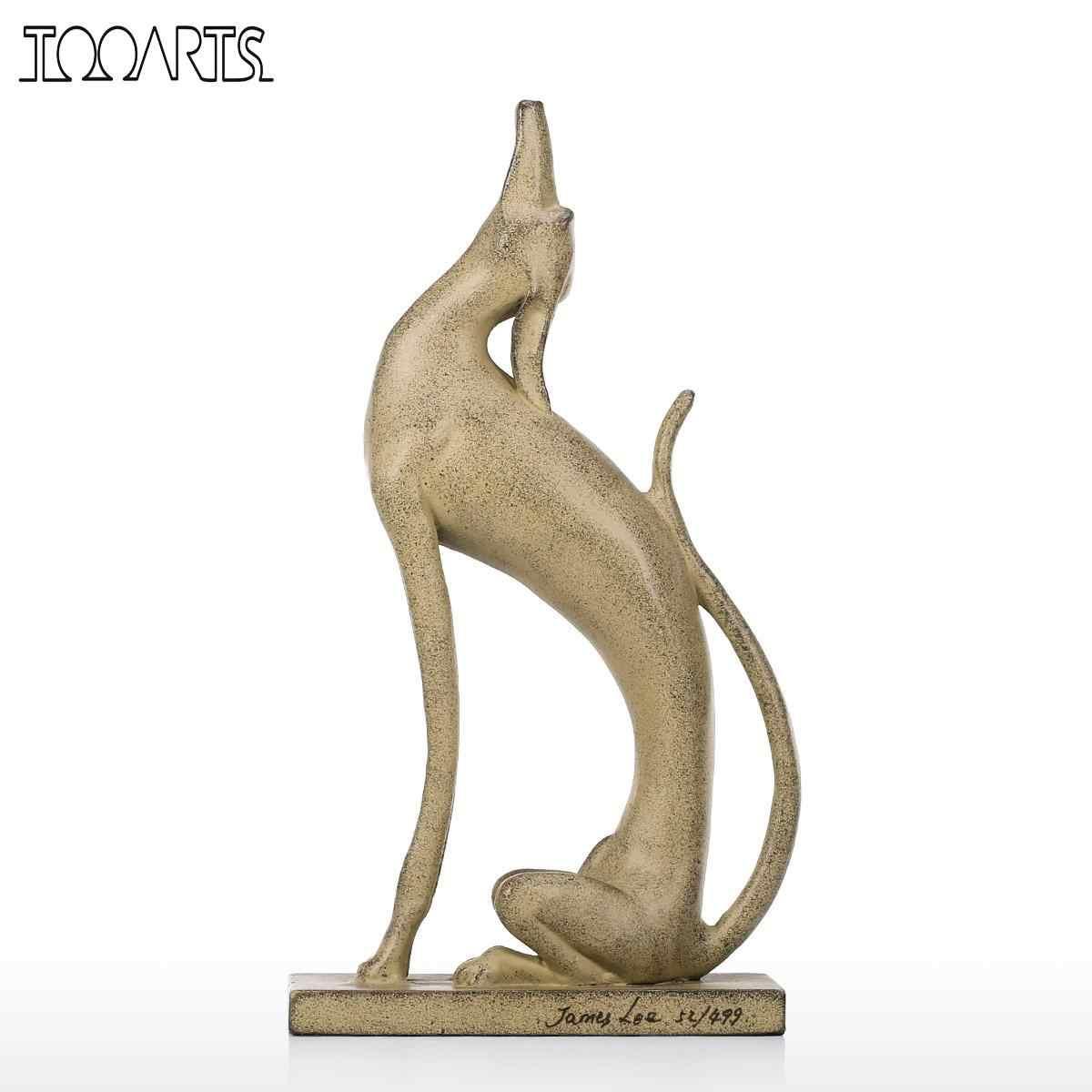 Tooarts Aluminum Animal Statue Upturned Dog Sculpture Art Statue Home Decoration Contemporary Table Art Sculpture Home Decor Statues Sculptures Aliexpress