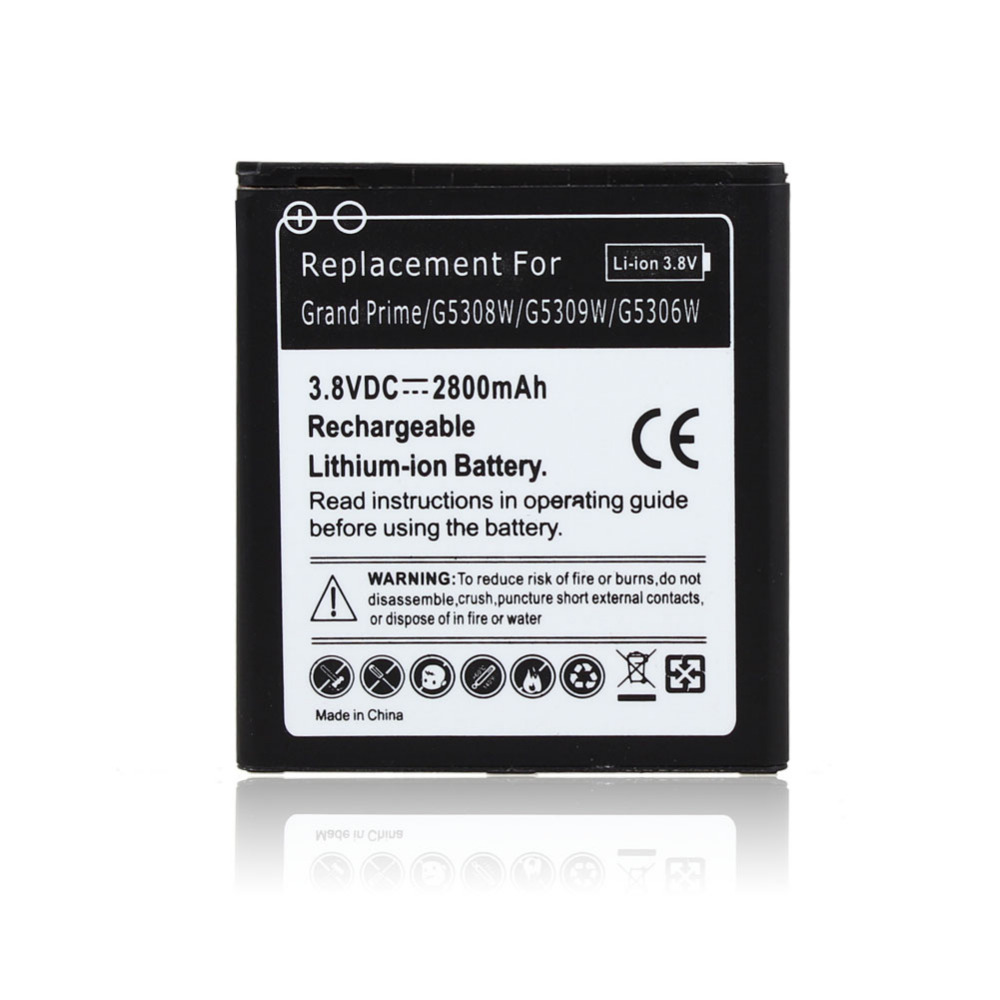 For Samsung Galaxy Grand Prime G5308W G5309W G5306W cell phone 2800mAh Replacement commercial battery EB-BG530BBC Smartphone