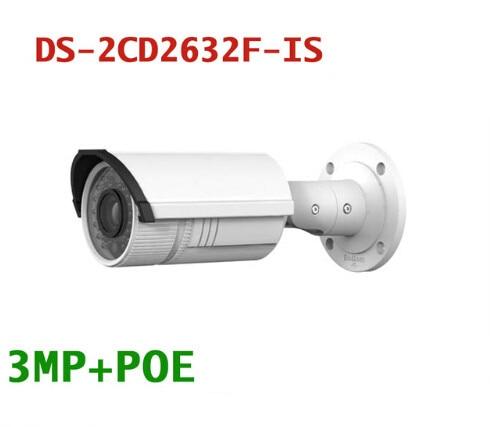 Original English Version HIK DS-2CD2632F-IS 3MP Full HD Vari-focal IR IP Bullet Camera POE Power Network IP66 CCTV Camera hik origina ds 2cd2642fwd is 4mp wdr 2 7 12mm vari focal lens network hd bullet poe cctv camera