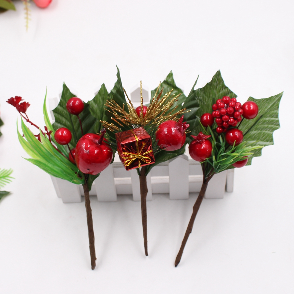 1 Bunny Pine Pine Berry Stamens Christmas Tree Ornaments Diy Clip And Clip  Gift Box Decorative