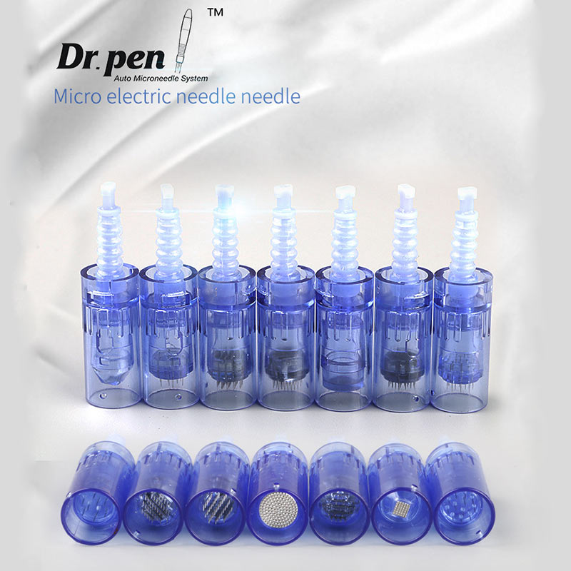 50pcs 36 pins auto electric derma microneedle cartridge needles replaceable head tips for dr pen derma