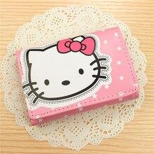 HELLO KITTY Purse PU Leather Purse Cartoon Cute Hello Kitty