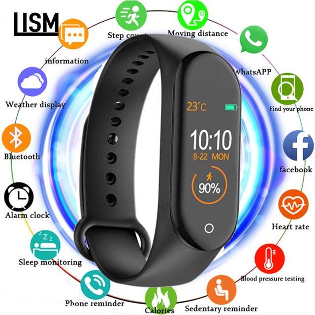 2019 NEW M4 Swimming Smart Bracelet Heart Rate Monitor Activity Fitness Tracker Smart Band Push Message Watch for Xiaomi honor image