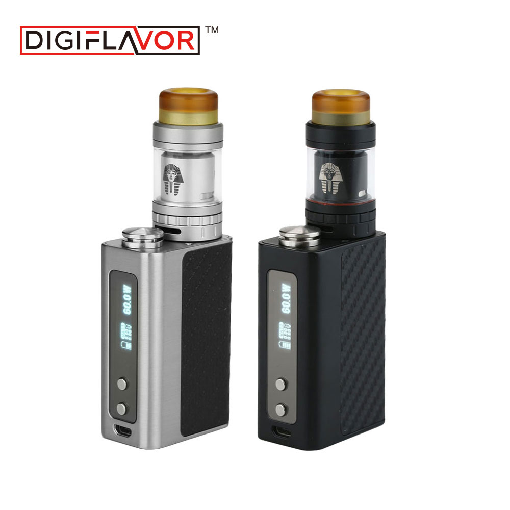 Digiflavor Starter Kit with DF 60 MOD 1700mAh Battery and Pharaoh Mini RTA 2ml Rebuildable Tank Atomizer Can be Extended to 5ml недорого
