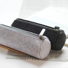 Stationery Pencil-Bag Office-Supplies Minimalist Simple Fabric Felt