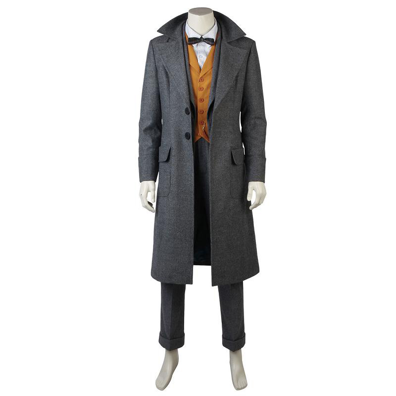 Fantastic Beasts The Crimes of Grindelwald Cosplay Newt Scamande Costume Overcoat Full Set Outfit Custom Made for Adult Men